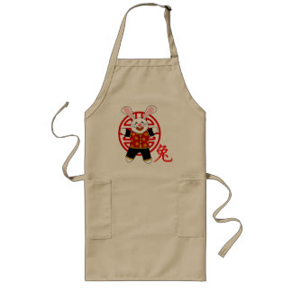 Year of the Rabbit Long Apron