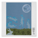 Year of the Rabbit Moon Design Print