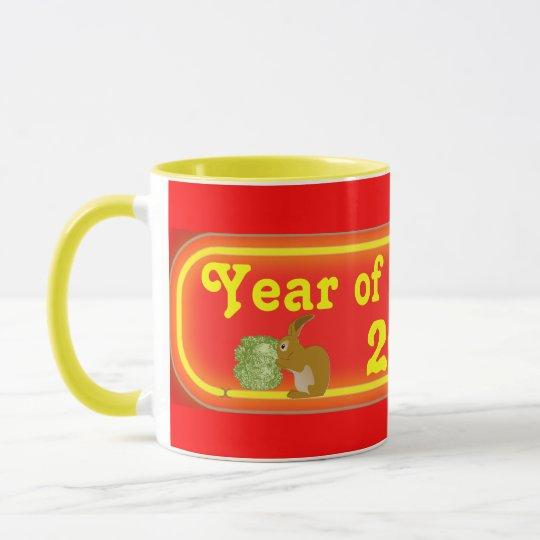year of the rabbit mug