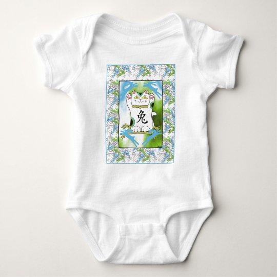 Year of the Rabbit Neko in Blueberry Baby Bodysuit