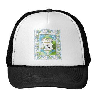 Year of the Rabbit Neko in Blueberry Mesh Hats