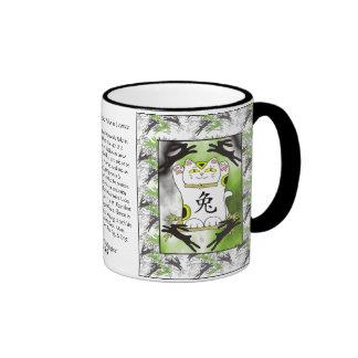 Year of the Rabbit Neko in Licorice Mug