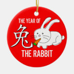 Year Of The Rabbit Ornament Red