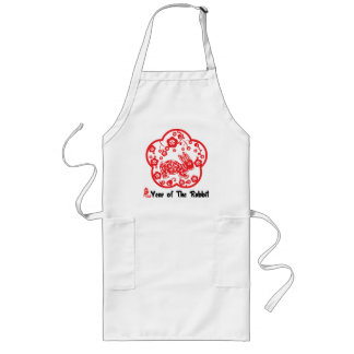 Year of The Rabbit Paper Cut Gift Long Apron