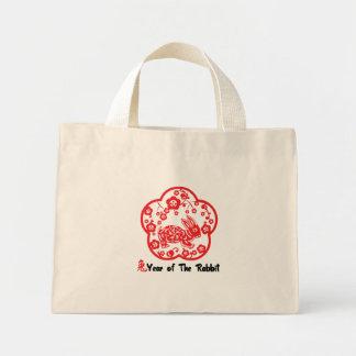 Year of The Rabbit Paper Cut Gift Mini Tote Bag