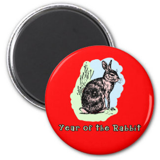 Year of the Rabbit Pastel Tshirt, Mug, Card, Gift 2 Inch Round Magnet