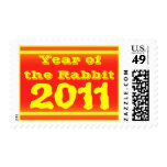 year of the rabbit postage stamp