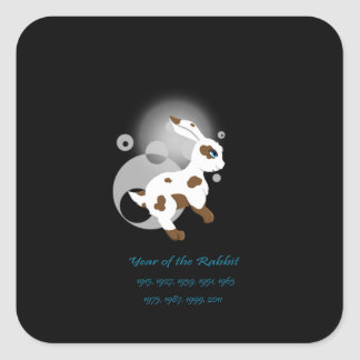 Year of the Rabbit Square Sticker