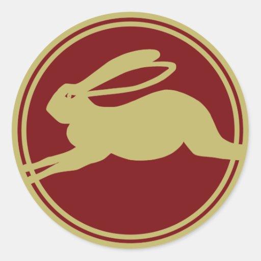 Year of the Rabbit Round Stickers