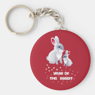 Year of the Rabbit .Two Rabbits Keychain