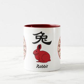 year of the rabbit Two-Tone coffee mug