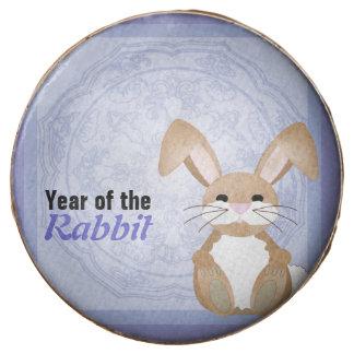 Year of the Rabbit Chocolate Dipped Oreo