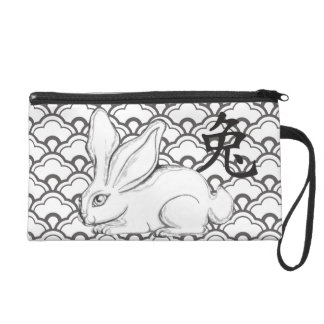 Year of the Rabbit Wristlet