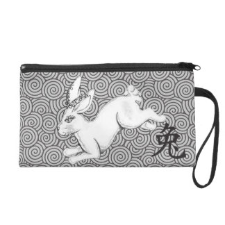Year of the Rabbit Wristlet Purse