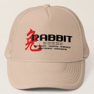 Year of The Rabbit Years - Characteristics Trucker Hat