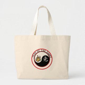 Year of the Rabbit - yinyang Jumbo Tote Bag