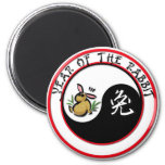 Year of the Rabbit - yinyang Magnets