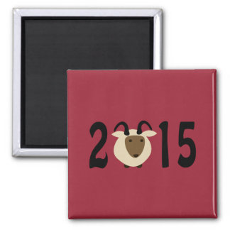 Year of the Ram 2015 2 Inch Square Magnet