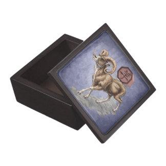 Year of the Ram Chinese Zodiac Animal Premium Keepsake Box