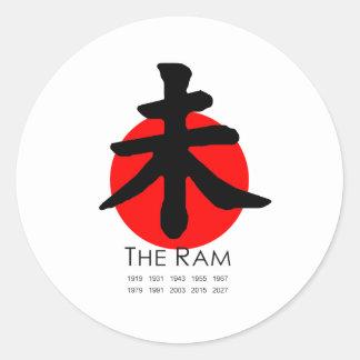 Year of the Ram Classic Round Sticker