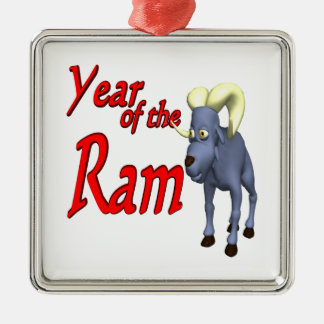 Year Of The Ram Christmas Tree Ornament