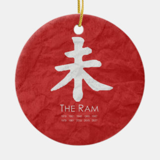 Year of the Ram Christmas Ornaments