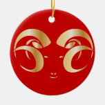 Year of the Ram / Sheep Christmas Tree Ornament