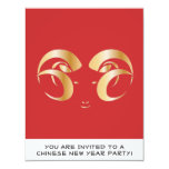 Year of the Ram / Sheep 4.25x5.5 Paper Invitation Card