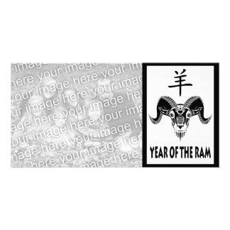 year of the ram (wildRam) Photo Greeting Card