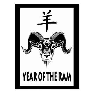 year of the ram (wildRam) Postcards
