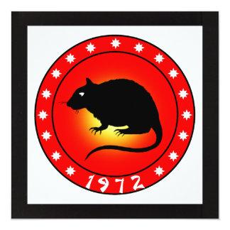 Year of the Rat 1972 Invitation