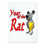 """Year Of The Rat 5"""" X 7"""" Invitation Card"""