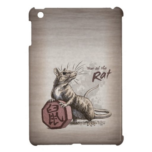 Year of the Rat Chinese Zodiac Animal Art Case For The iPad Mini