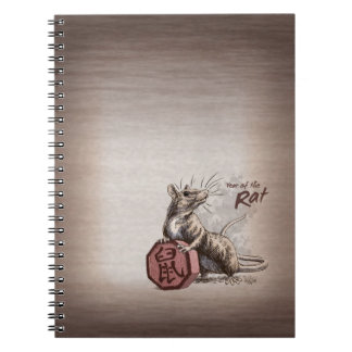 Year of the Rat Chinese Zodiac Animal Note Books