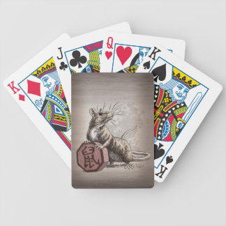 Year of the Rat Chinese Zodiac Art Bicycle Playing Cards