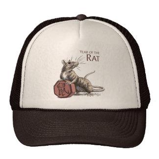 Year of the Rat Chinese Zodiac Art Trucker Hat