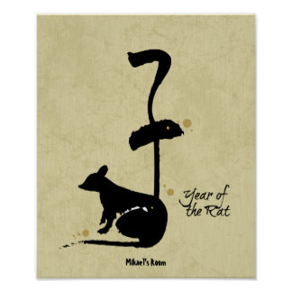 Year of the Rat - Chinese Zodiac Posters