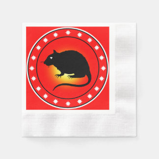 Year of the Rat Coined Cocktail Napkin