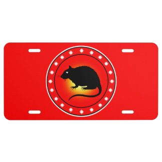 Year of the Rat License Plate