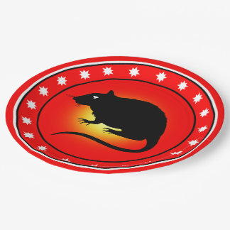 Year of the Rat Paper Plate