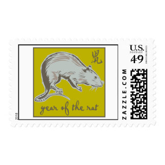 Year Of The Rat Postage