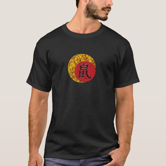 Year of the Rat : Red and Gold T-Shirt