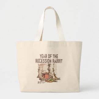 Year of the Recession Rabbit Large Tote Bag