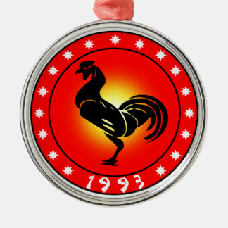 Year of the Rooster 1993 Christmas Tree Ornaments