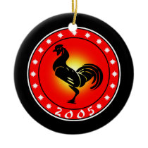 Year of the Rooster 2005 Ceramic Ornament