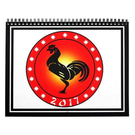 Year of the Rooster 2017 Calendar