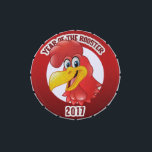 """Year of The Rooster 2017 Candy Tin<br><div class=""""desc"""">&quot;Year of The Rooster 2017&quot;Chinese New Year of The Rooster 2017 Designs. Chinese Zodiac Sign Rooster, Chinese Zodiac symbol Rooster. Chinese New Year 2017, Born Year of The Rooster 2017, 2005, 1993, 1981, 1969, 1957, 1945, Chick. The Rooster is tenth in the Chinese zodiac. Each year is related to an...</div>"""
