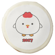 Year of the Rooster 2017 Cookies at Zazzle