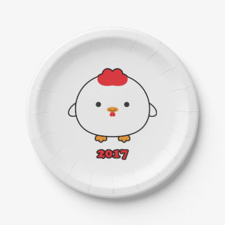 Year of the Rooster 2017 Paper Plates