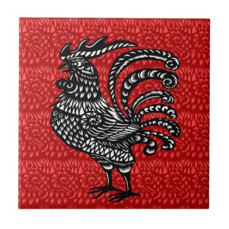 Year of the rooster ceramic tile